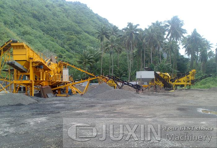 150-180t/h Mobile Stone Crushing Line